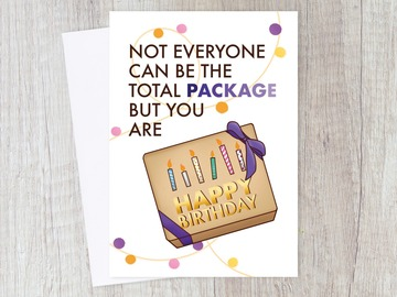 : Cheeky Total Package Birthday Gift Card | Funny Sassy for her