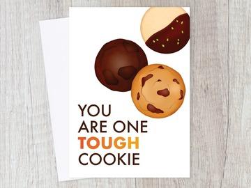 : Tough Cookie Encouragement Card | Get Well Soon, Motivational