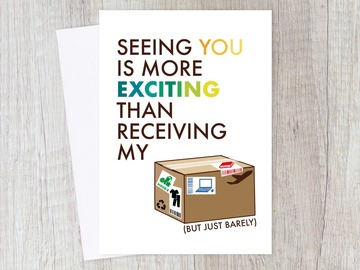 : Funny Long Distance Online Shopping Card for Friend