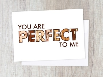 : You are Perfect Card | Encouragement, Body Positivity, for Her