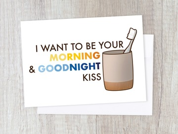 : Funny Toothbrush Lovers' Card | Moving In, Kiss