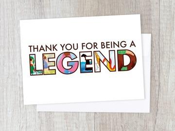 : Thank you Legend Card | Appreciation, Leaving, Fairytale, Friend