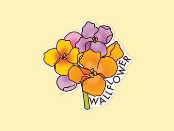 : Wallflower Anti-Social Party Matte Waterproof Vinyl Sticker