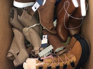 Liquidation/Wholesale Lot: Target stores mystery shoe   box lot women