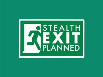 : Stealth Exit Escape Sign Planned Matte Waterproof Vinyl Sticker