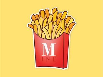 : French Fries Lover Cheat Meal Matte Waterproof Vinyl Sticker