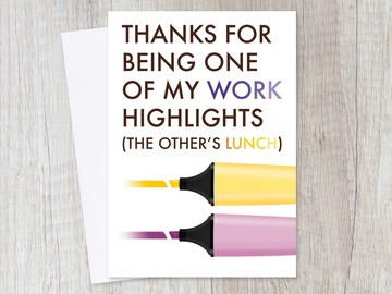 : Farewell Leaving Funny Work Highlight Card for Colleagues