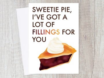 : Sweetie Pie Love Card for Anniversary, Date, Relationship, Couple