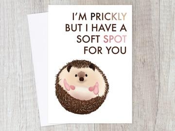 : Prickly Love Sarcastic Hedgehog Romantic Card | Love, Couple