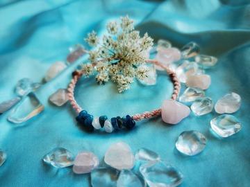 Vente au détail: Bracelet torsadé rose pale