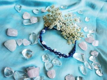 Vente au détail: Bracelet dentelle blue jean