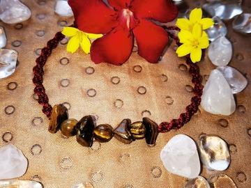 Vente au détail: Bracelet torsadé bordeaux