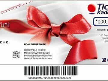 Vente: Chèques cadeaux Kadéos Infini (560€)