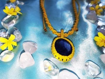 Vente au détail: Pendentif jaune et Lapis Lazuli