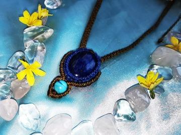 Vente au détail: Pendentif bronze et Lapis Lazuli