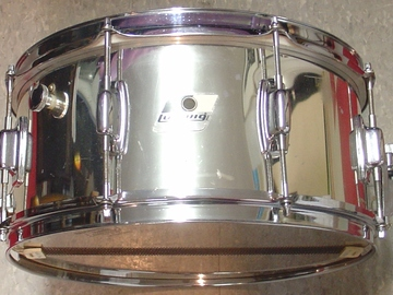 VIP Members' Sales Only: Ludwig 6 1/2 x 14 Rocker Chrome over wood snare drum
