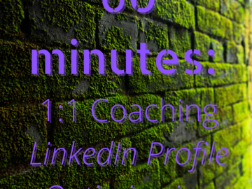 Book me for an event: 60 Minutes LinkedIn Coaching