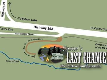 Book Your Stay: Custer's Last Chance RV Park & Campground