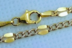 """Other Item: 10K Italy Real Solid Yellow Figaro Diamond cut Gold Necklace 18"""""""