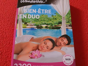 "Vente: Coffret Wonderbox ""Bien-être en duo"" (49,90€)"