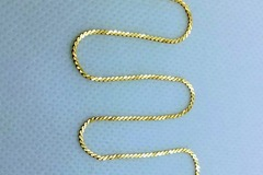 """Other Item: 18K 750 Real Solid Yellow Gold Necklace 16"""" approx 2.7grams!"""