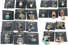 Liquidation/Wholesale Lot: 50 - Bebe Rings Assorted 100's of styles Pre price to $28.99