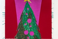 Selling with online payment: Christmas Tree Cards, Set of 2