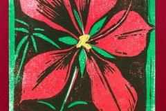 Selling with online payment: Red Hibiscus Holiday Cards, Set of 2