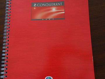 Vente: CAHIER CONQUERANT GRANDS CARREAUX - 0.50€