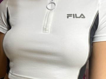 Selling without online payment: Authentic FILA crop top with zip
