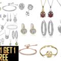 Liquidation/Wholesale Lot: Buy One Get 1 FREE -50 Assorted pieces Swarovski Elements Jewelry