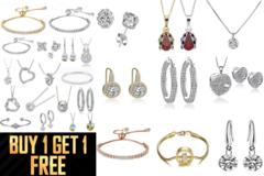 Liquidation/Wholesale Lot: Buy One Get 1 FREE 100 Assorted pieces Swarovski Elements Jewelry