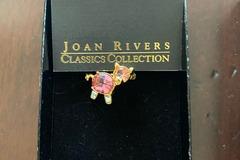 Liquidation/Wholesale Lot: 10 PCS-- Joan River's Rhinestone Pig Pin--$25.00 retail-- $4.99