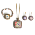 Selling: One-Of-A-Kind Beaded Hummingbird Jewelry Set