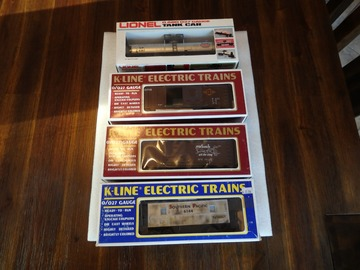 Selling with online payment: Lionel and K-line cars lot of 4 with boxes  used