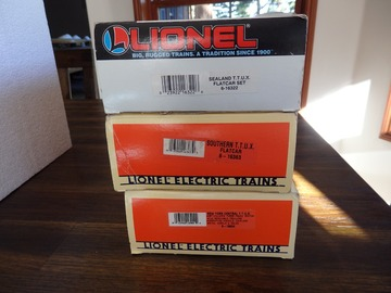 Selling with online payment: Lionel O scale T.T.U.X. car Lot Flat cars with Trailers 3 pcs