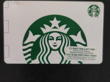 Vente: Carte Starbucks (25$CAD = 16,78€)