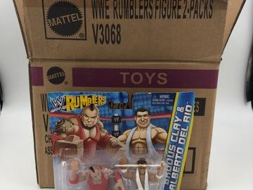 Liquidation/Wholesale Lot: Original Case Pack of 12 WWE Rumblers Figure 2-packs