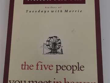 Selling without online payment: Book: the five people you meet in heaven by Mitch Albom