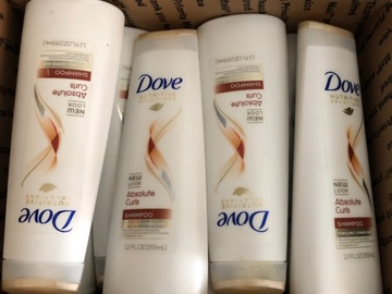 Liquidation/Wholesale Lot: 12 Dove Absolute Curls Shampoo