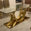 Selling without online payment: Stainless Steel DIning Table with glass top