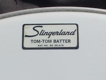 "VIP Members' Sales Only: 1960-70s SLINGERLAND logo 18"" smooth white Floor tom head"