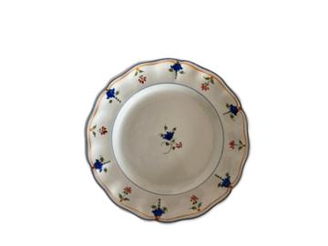 Vente: Assiettes plates en faïence anciennes «Perrier fils»