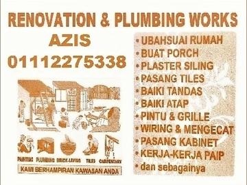 Services: tukang cat rumah dan renovation 01112275338 azis wangsa maju