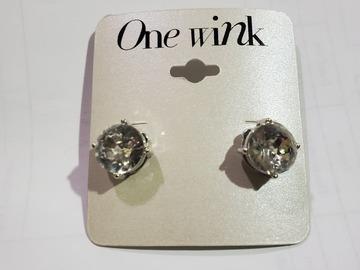 Liquidation/Wholesale Lot: Dozen RhineStone Stud Earrings by One Wink