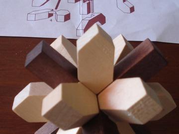 Vente: Casse-tête flocon en bois - JANOD -
