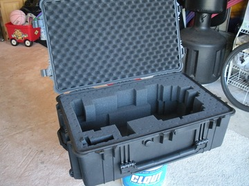 For sale (with online payment): Hard Case & Kevlar-material zippered tripod/wedge cover