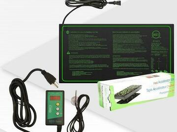 """Post Now:  ECO Farm 10""""x20"""" Seedling Heat Mat and Digital Thermostat Combo"""
