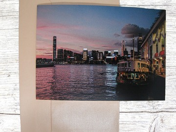 : More Sights of Hong Kong Greeting Card 4 (Star Ferry in the Pink)