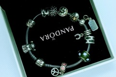 Other Item: Auth Pandora Bracelet with ALE 925 Charms + xtra